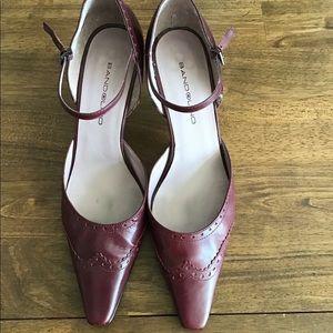 Bandolino Burgundy Ankle Strap shoes